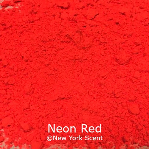 Neon Red Fluorescent Pigment - Soap Colorant from New York Scent