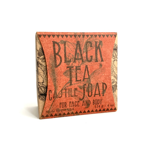 Black Tea Castile Soap for Face and Body