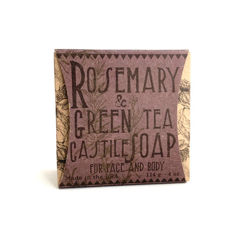 Rosemary & Green Tea Castile Soap for Face and Body