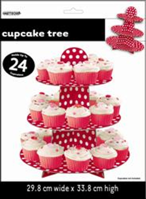 DOTS RED CUPCAKE TREE