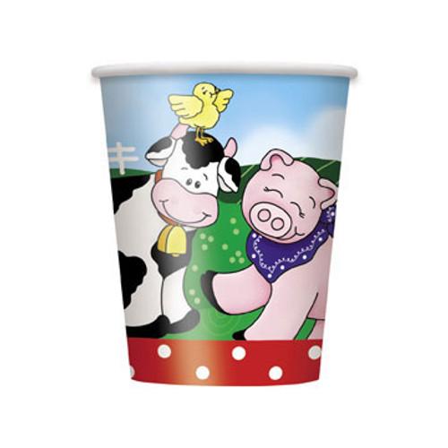 FARM FRIENDS 8 x 270ml (9oz) PAPER CUPS