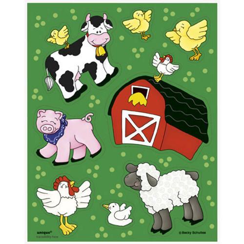 FARM FRIENDS 4 STICKER SHEETS
