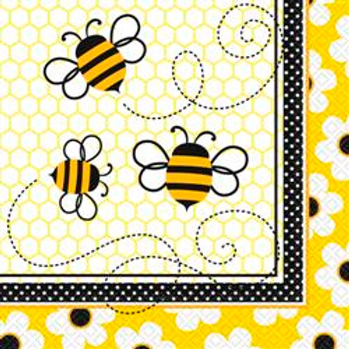 BUSY BEES 16 LUNCHEON NAPKINS
