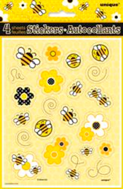 BUSY BEES 4 STICKER SHEETS