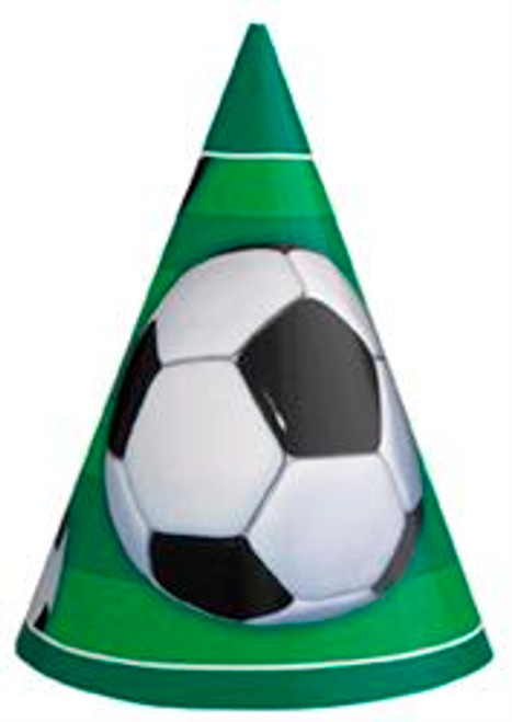 3D SOCCER 8 PARTY HATS