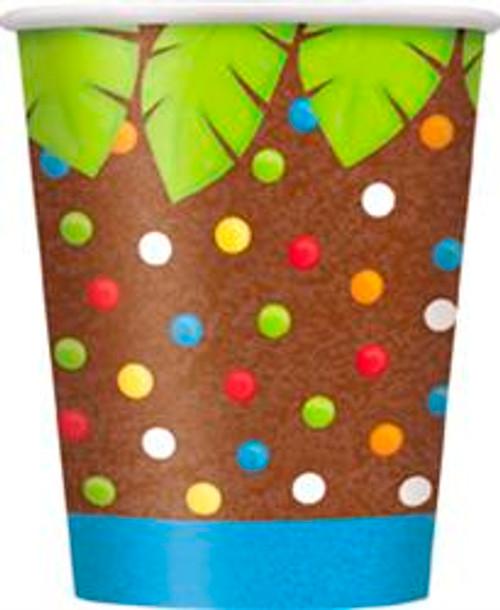 JUNGLE PARTY 8 x 270ml (9oz) PAPER CUPS