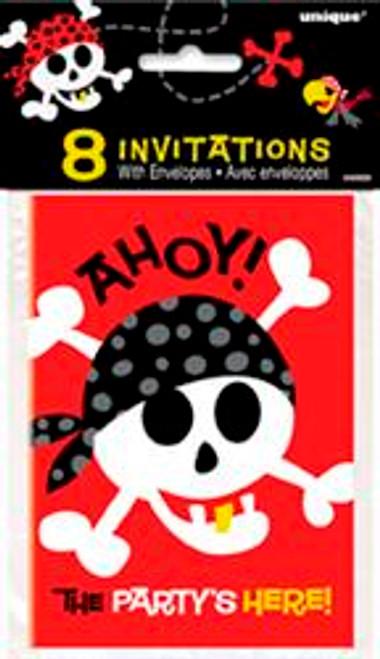 PIRATE FUN 8 INVITATIONS