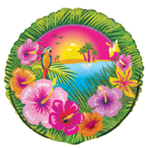 """LUAU PARTY 45cm (18"""") FOIL BALLOON PACKAGED"""