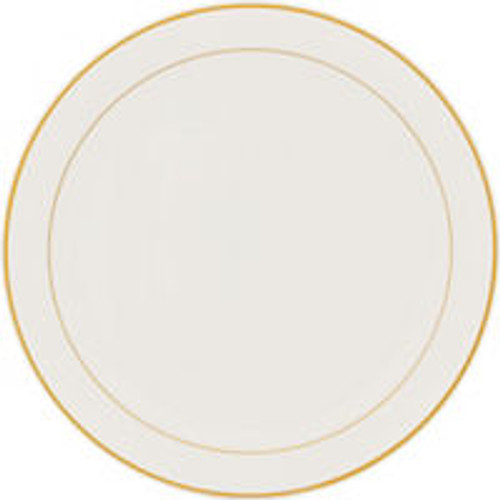 Gold Trimmed Cream Plastic Platter