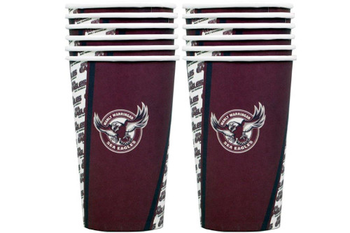 NRL PARTY CUPS SEA EAGLES 6PK 500ML
