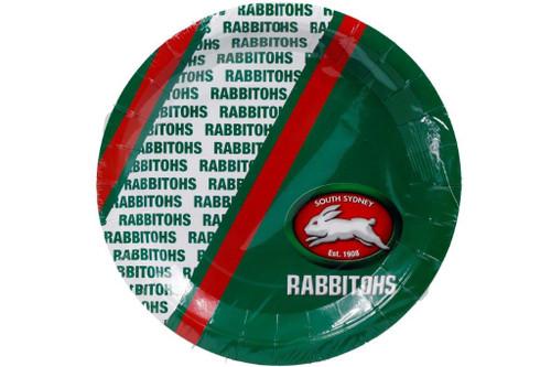NRL PARTY PLATES RABBITOHS 6PK 24CM