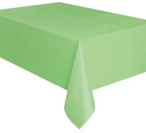 "APPLE GREEN PLASTIC TABLECOVER RECTANGLE 137cm X 274cm (54"" X 108"")"
