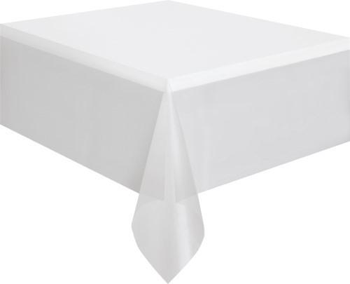 """CLEAR UNIQUE PLASTIC TABLECOVER RECTANGLE 137cm X 274cm (54"""" X 108"""")"""