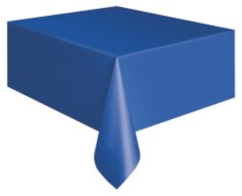 "BLUE METEOR PLASTIC TABLECOVER RECTANGLE 137cm X 274cm (54"" X 108"")"