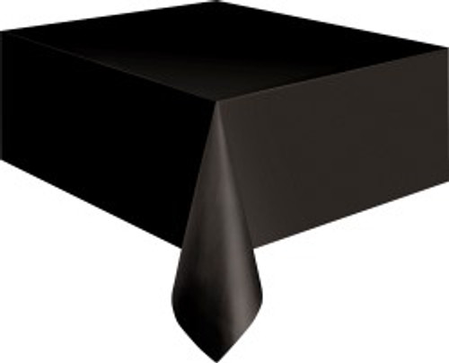 "BLACK METEOR PLASTIC TABLECOVER RECTANGLE 137cm X 274cm (54"" X 108"")"