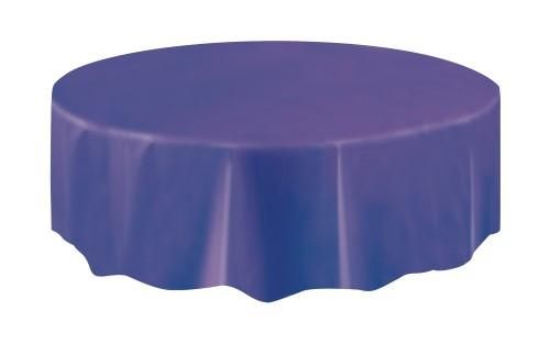 "DEEP PURPLE UNIQUE PLASTIC TABLECOVER ROUND 213cm DIAMETER (84"")"
