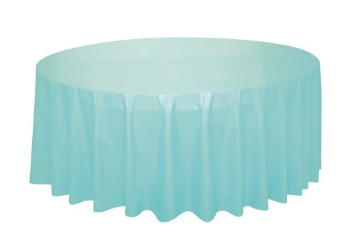 "MINT PLASTIC TABLECOVER ROUND 213cm DIAMETER (84"")"