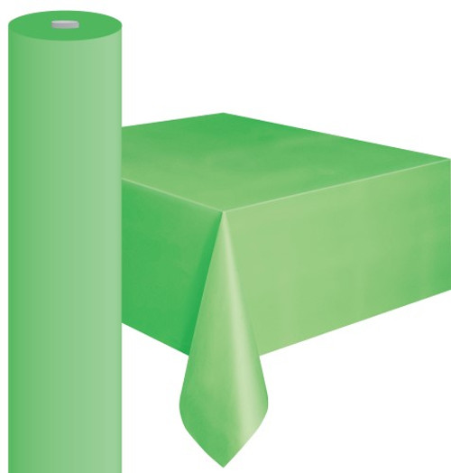 """LIME GREEN METEOR PLASTIC TABLECOVER ROLL 122cm W X 30m L (48""""X100')"""