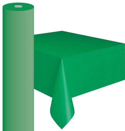 """EMERALD GREEN METEOR PLASTIC TABLECOVER ROLL 122cm W X 30m L (48""""X100')"""