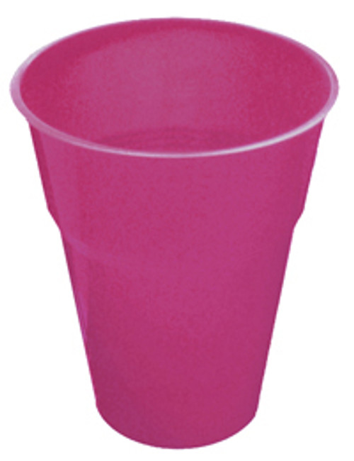 HOT PINK 25 X 270ml (9oz) PLASTIC CUPS
