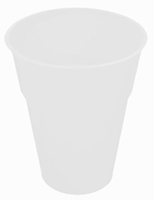 WHITE 12 X 270ml (9oz) PLASTIC CUPS