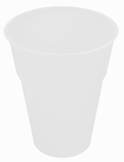WHITE 12 X 270ml (9oz) PLASTIC CUPS