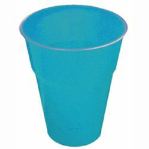 CARIBBEAN TEAL 12 X 270ml (9oz) PLASTIC CUPS