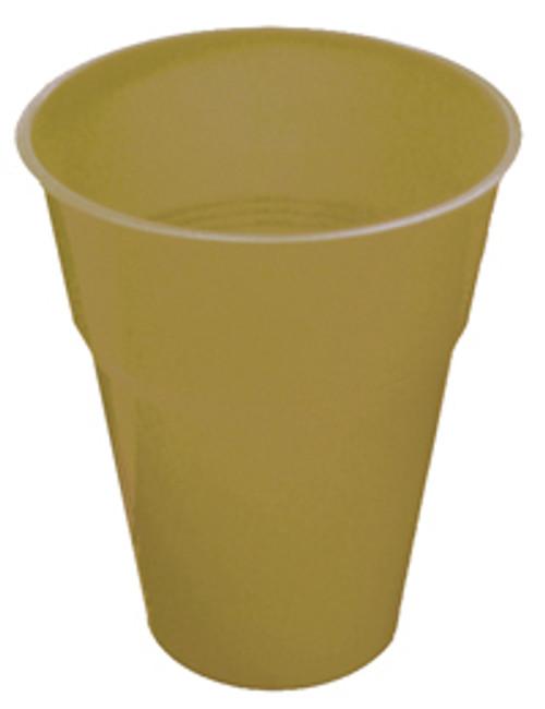 GOLD 12 X 270ml (9oz) PLASTIC CUPS