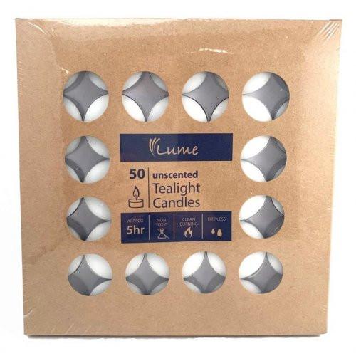 Lume Tealight Candles 5 Hour Box 50 x 10 Ctn 500