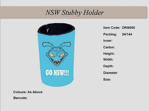 Nsw Stubby Holder