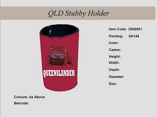 Qld Stubby Holder