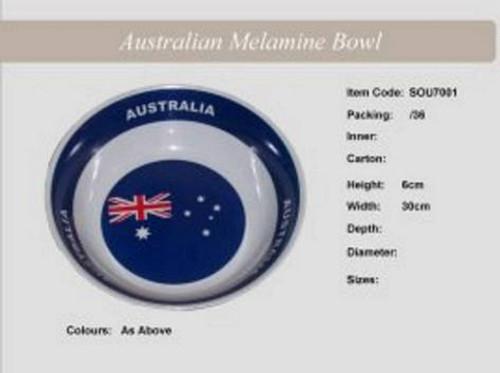 Australian Melamine Bowl 30Cm