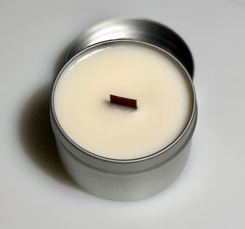 Soy Candle Tin w/Wooden Wick