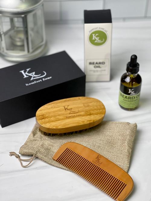 Beard Brush & Comb Kit