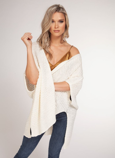 S/Slv Open Cardigan