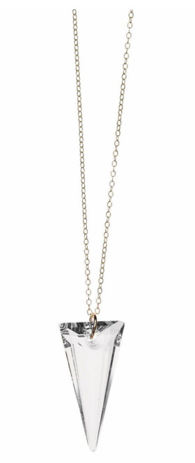 Spike Maxi Necklace Sterling Silver/ Clear Crystal