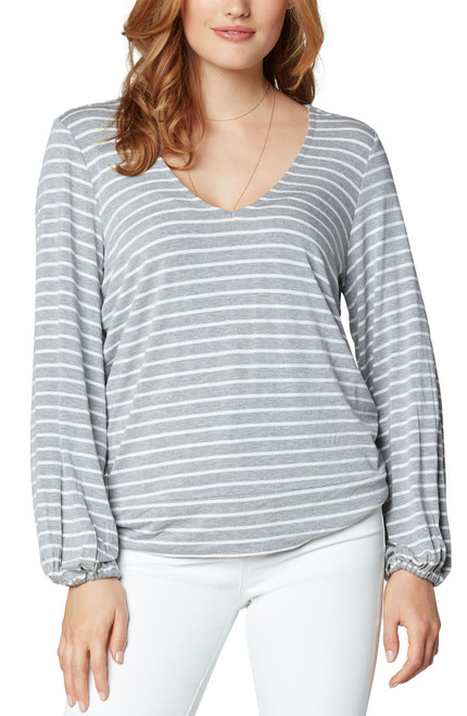 Twist Back Long Sleeve Knit Top