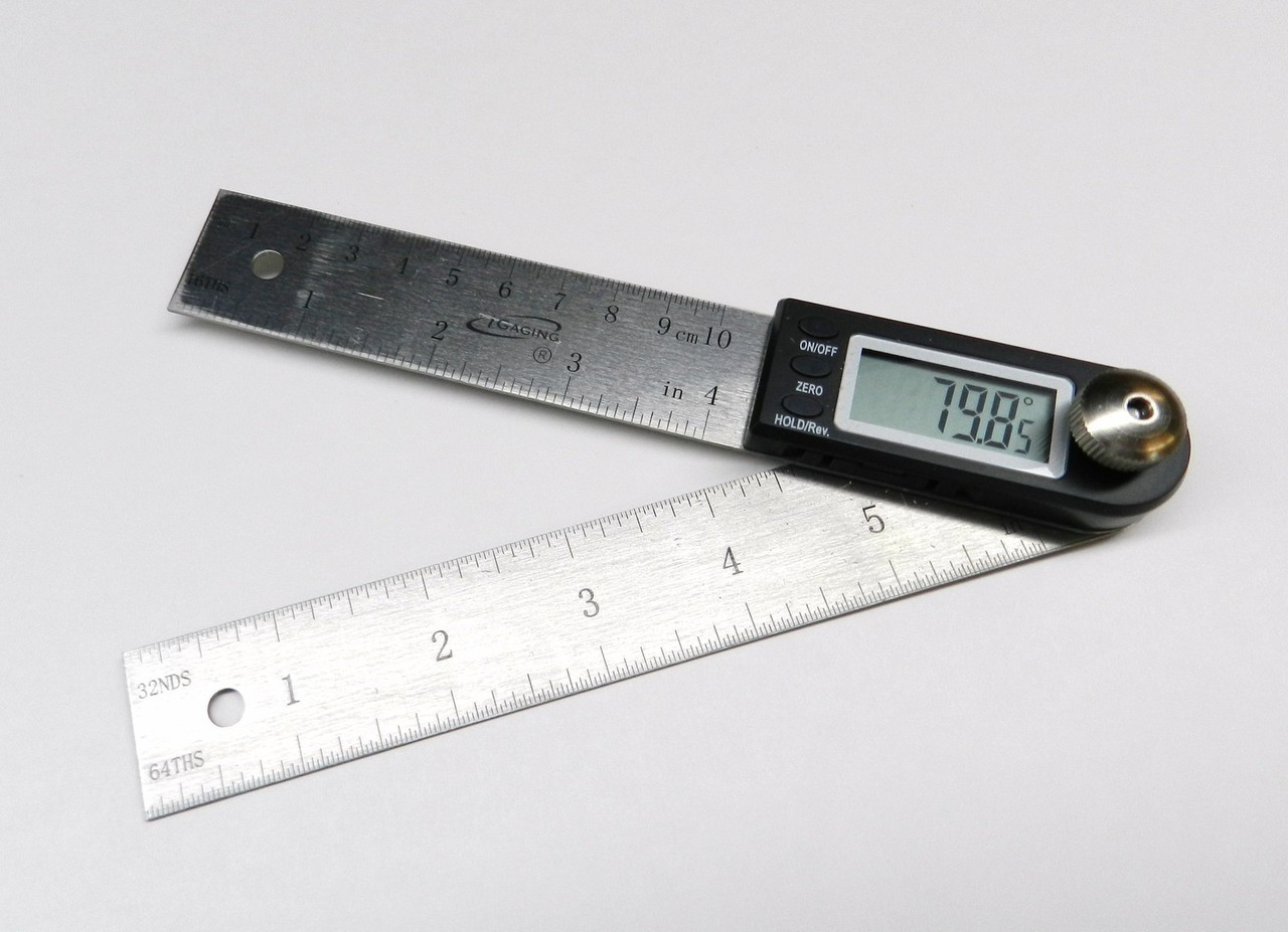 2In1 Electronic Protractor Digital Goniometer Angle Finder Miter Gauge Ruler New