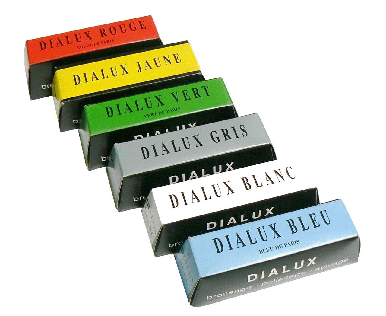Green Grey and Red 4oz 1//4b bars Dialux Metal Polishing Compound White