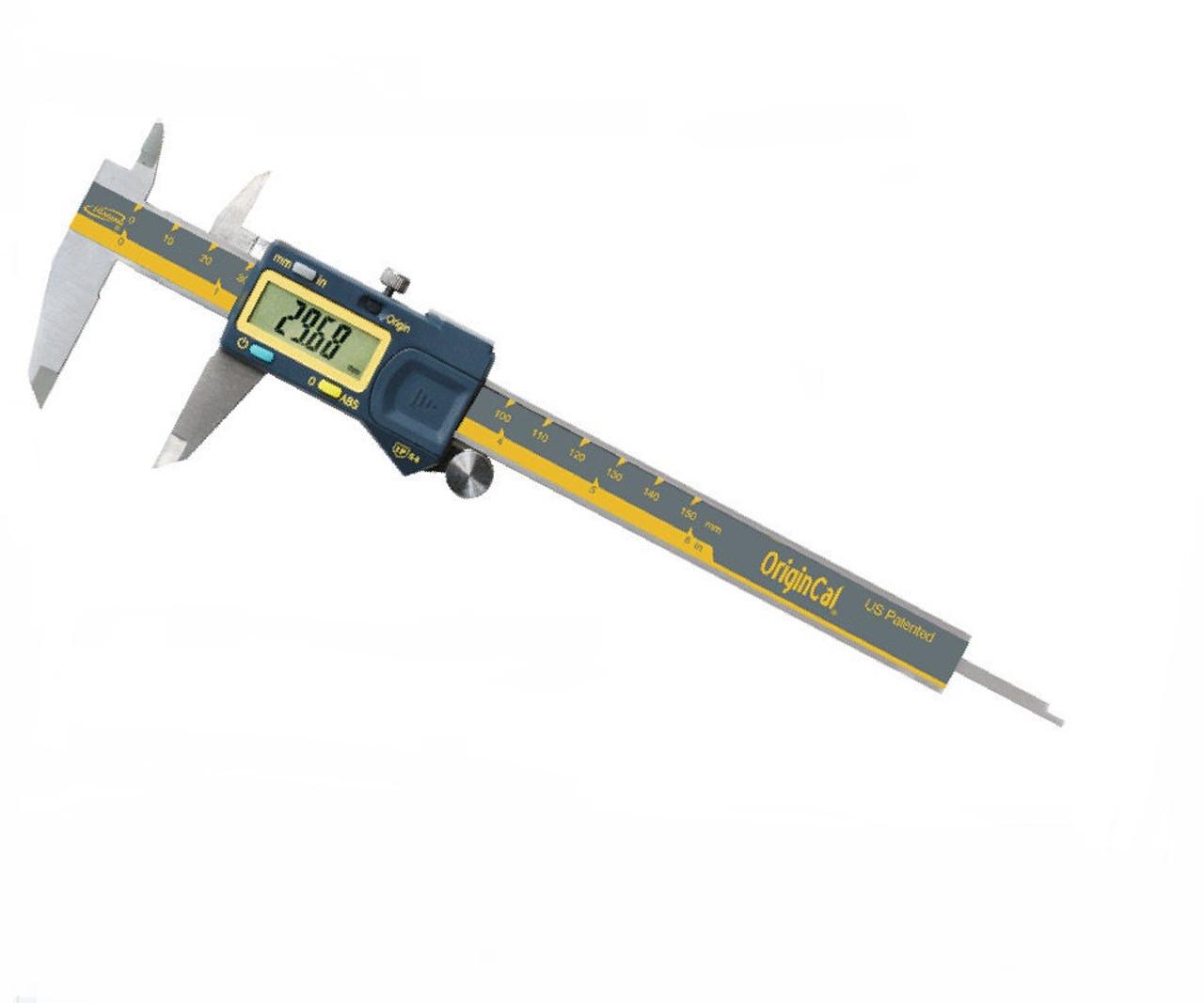 """iGaging Absolute Origin Cal 4/""""//100 mm Digital Calipers IP54 Stainless Steel"""