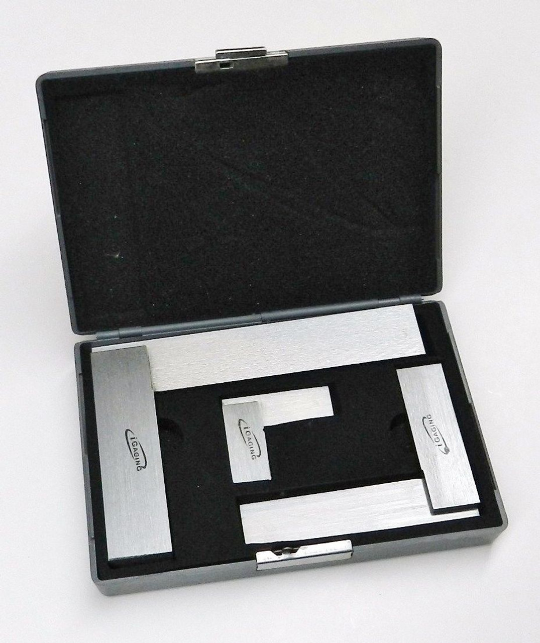 """Machinist Square 90º Right Angle Engineer's 3- Set DIN Standard 2"""" 4"""" 6"""" iGaging"""