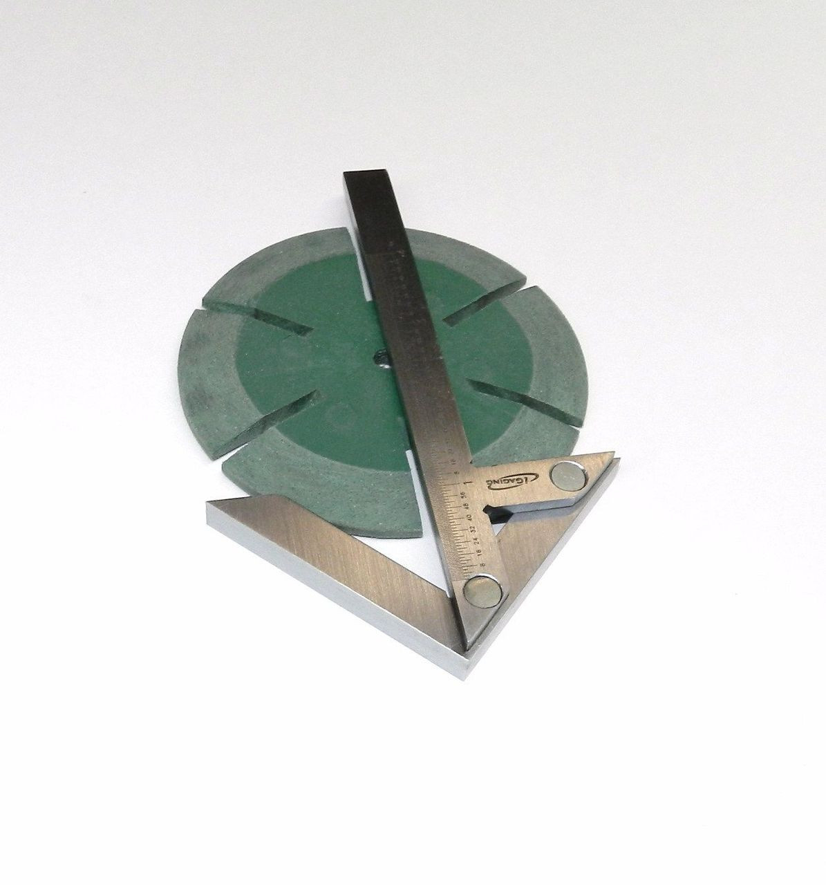 "Centering Square 4"" iGaging Center Gauge Round Bar Center Finder Precision S.S."