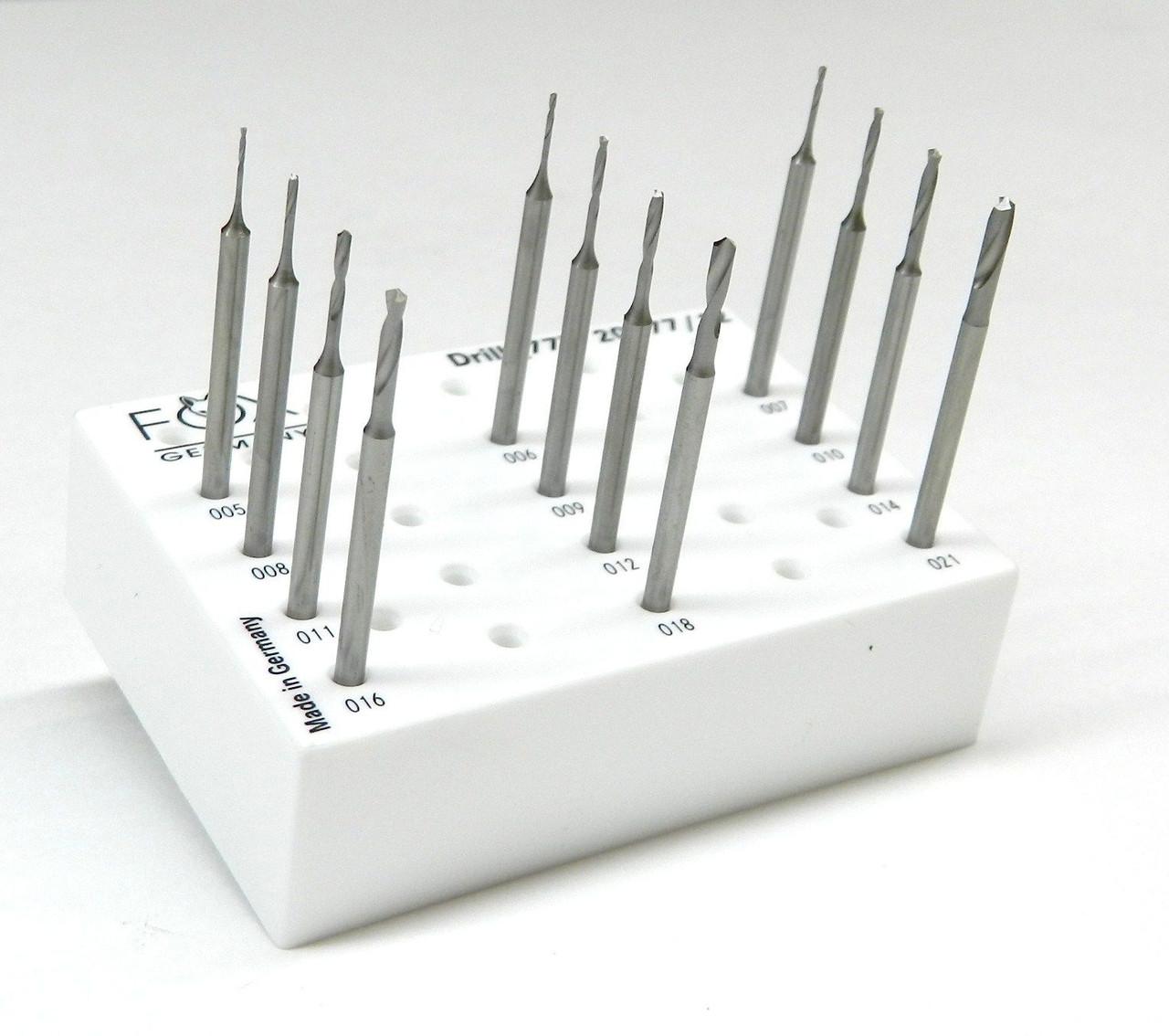 Fox Drill Burs Set 0.5mm to 2.1mm