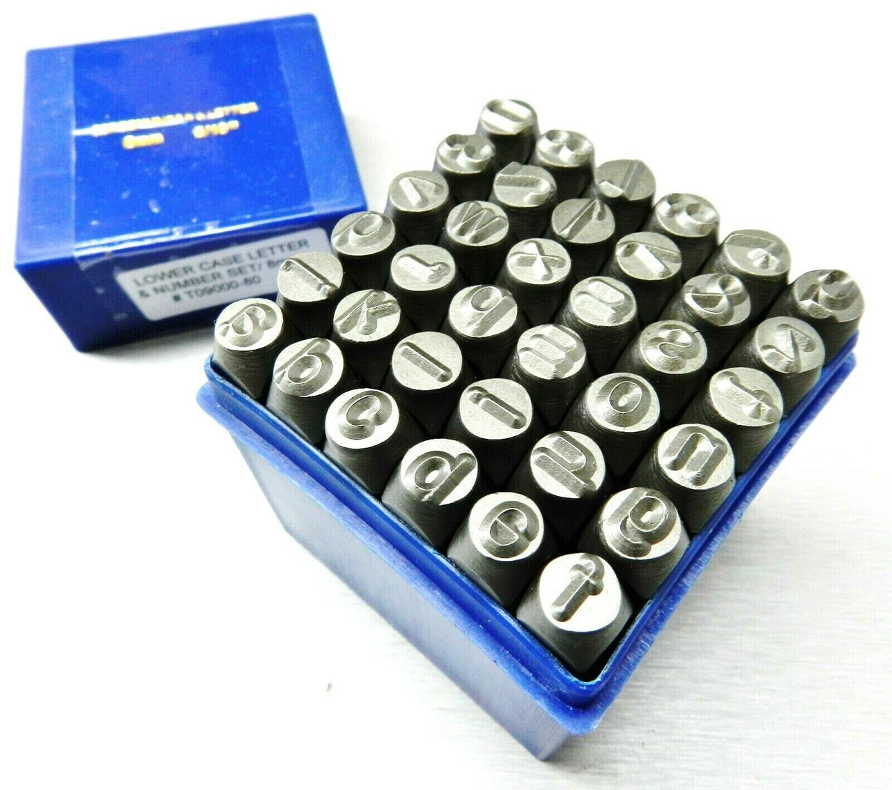 MARKING Stamps lower CASE 1.5mm Alphabet /& Numbers 36pc SET JEWELRY HAND PUNCHES