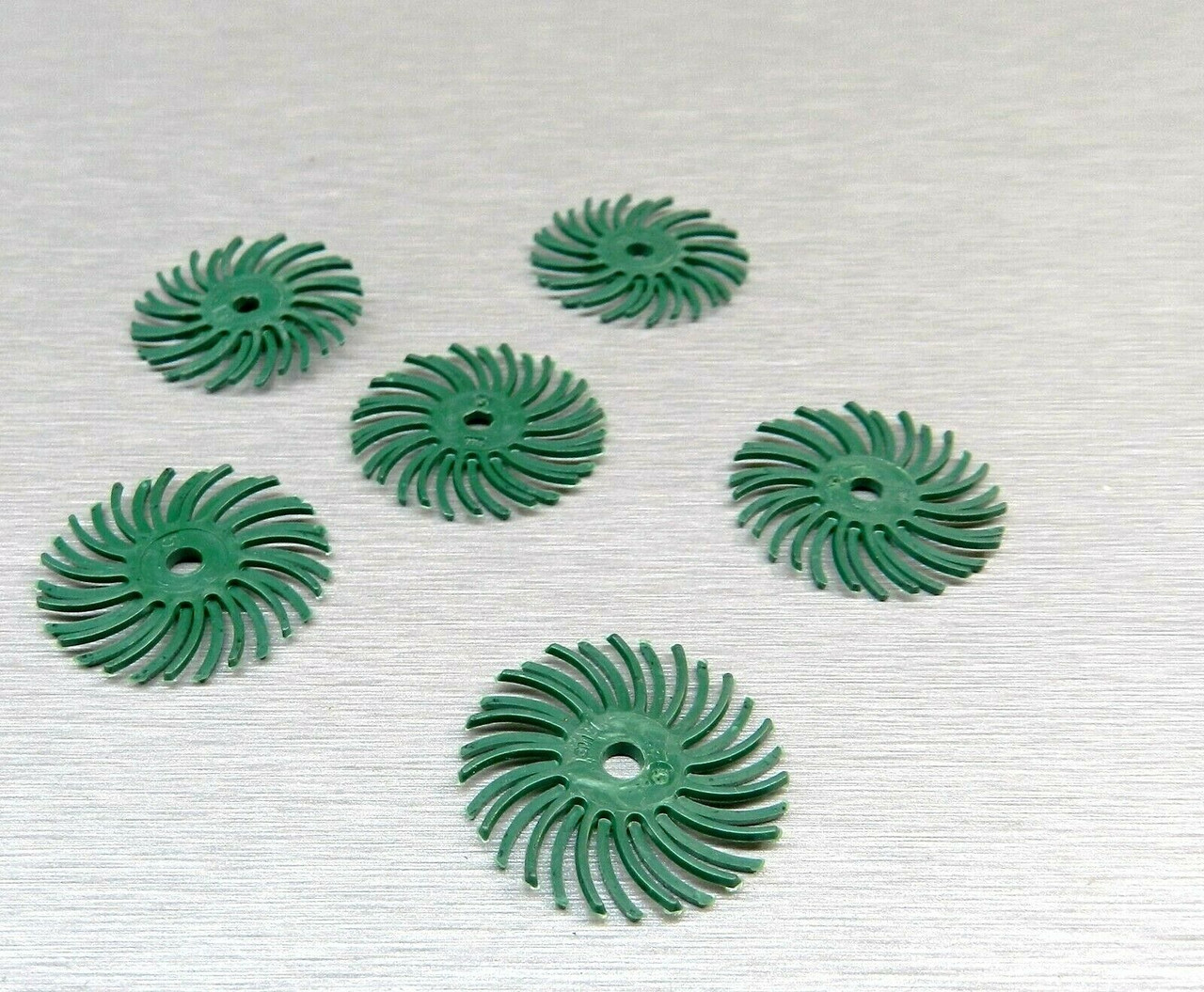 Pk of 6 3M Radial Brush Foredom Radial Bristle Discs 1 Micron Light Green 3//4