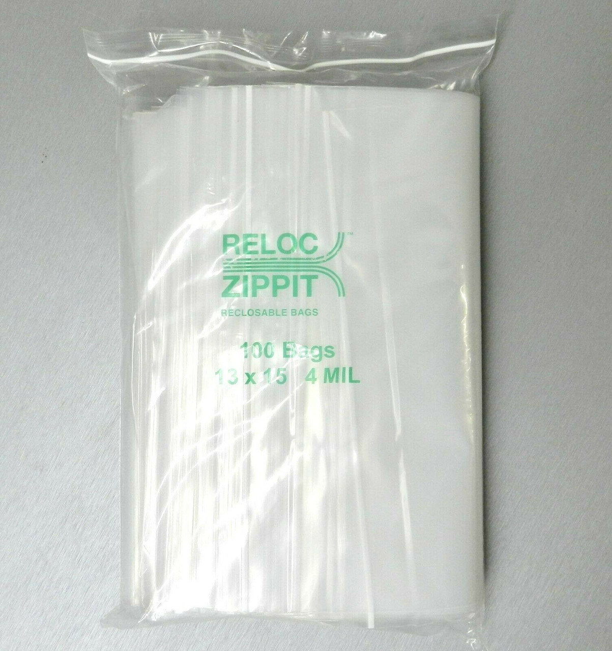 "1000 qty 3/"" x 12/"" Reclosable Clear Plastic Zipper Bags 4 Mil Heavy Duty"