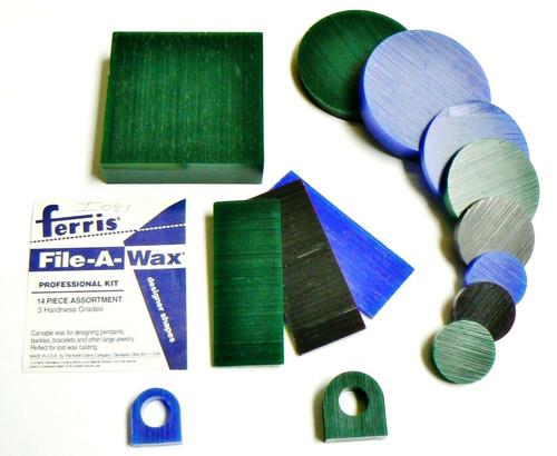 Ferris Carving Wax Assorted Waxes 14pc Pro Kit 3 Grades Carve & Design Wax Model