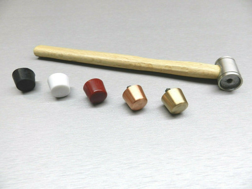 Hammer Interchangeable 5 Faces Plastic Nylon Copper Rubber Brass Mallet Jewelry
