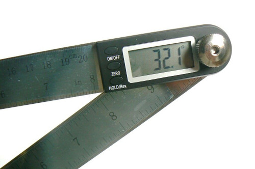 "8"" iGgaging Digital Protractor & Rule Miter Gauge Angle Finder Angle Measuring"