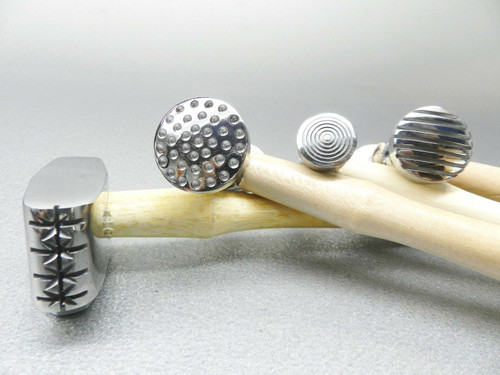 Texturing Hammer Set of 4 PCS Jewelry Design and Metalworking